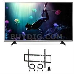 49-Inch 4K Ultra HD HDR Smart LED TV Bundle with Wallmount & HDTV Hook up Kit