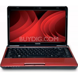 """Satellite 14.0"""" L645-S4104RD Notebook PC - Red Intel Core i3-380M Processor"""