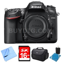 "D7200 DX-Format 24.2MP Digital HD-SLR Body with 3.2"" LCD WiFi NFC 16GB Bundle"