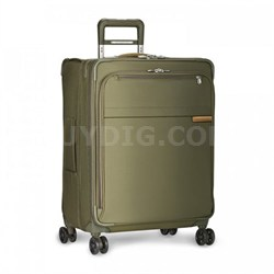 "Baseline Collection 25"" Medium Expandable Luggage Spinner (Olive) U125CXSP-7"