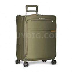 """Baseline Collection 25"""" Medium Expandable Luggage Spinner (Olive) U125CXSP-7"""