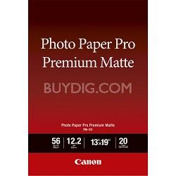 """Pro Premium Matte Photo Paper 13 x 19"""" 20 Sheets"""