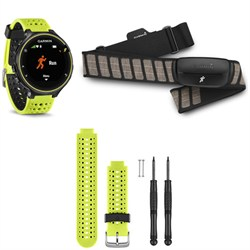 Forerunner 230 GPS Running Watch with Heart Rate Monitor - Yellow Band Bundle
