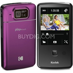 "Playtouch Magenta 1080p HD Video Camera Camcorder w/ 3.0"" Touchscreen"