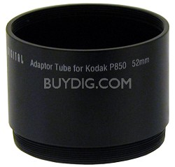Lens Barrel Adapter for  P850 / P712 - 52mm