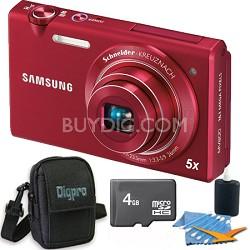 """MV800 16.1 MP 3.0"""" MultiView Red Camera 4GB Bundle"""