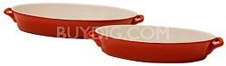 2 Piece Oval Ceramic Bakeware Set