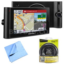 "dezlCam LMTHD 6"" GPS Truck Navigator w/ Dash Cam Portable Friction Mount Bundle"