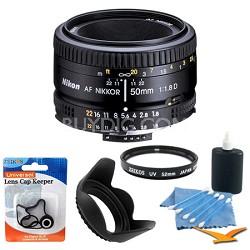 50mm F/1.8 D AF FS-52 Lens w/ Filter, Lens Hood & Cleaning kit