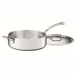 FCT33-28H - French Classic Tri-Ply Stainless 5-1/2-Quart Saute Pan with Cover