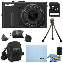 COOLPIX P310 16.1 MP 4.2x Opt Zoom 3.0 LCD Digital Camera 8GB Bundle