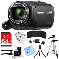 HC-V380K Full HD Camcorder with Wi-Fi Multi Scene Twin Camera + 64GB SDXC Kit