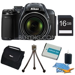 COOLPIX P520 18.1 MP 42x Zoom Digital Camera 16gb Bundle - Dark Grey