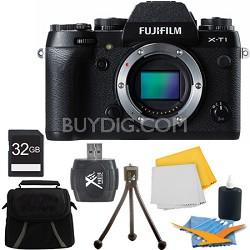 X-T1 16.3MP Full HD 1080p Video Mirrorless Digital Camera - Body Only 32GB Kit