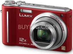 DMC-ZS3R LUMIX 10.1 MP Compact Digital Camera with 12x Super Zoom (Red)