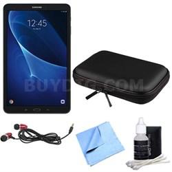 Galaxy Tab A 16GB 10.1-inch Tablet w/ Sleeve & Basic Accessories Bundle - Black
