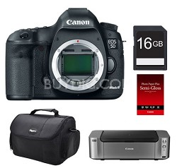 5D Mark III DSLR  Camera (Body) with Printer, 16GB Card, Case and Photo Paper