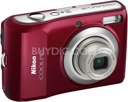COOLPIX L20 10MP Digital Camera (Deep Red)