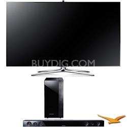 "UN55F7500 55"" 1080P 240hz 3D Ultra Slim LED WiFi Smart HDTV Sound Bar Bundle"