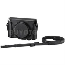 LCJHWA/B Jacket Case for Cyber-Shot HX90/WX500 (Black)