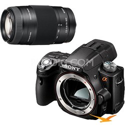 Alpha SLT-A55 16.2 MP DSLR Kit w/ Sony 75-300mm f/4.5-5.6 Tele Zoom Lens