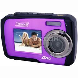 14MP Dual Screen Waterproof Digital Camera (Purple) - 2V7WP-P