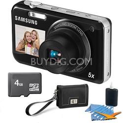 PL120 14MP Dualview Black Digital Camera Bundle Includes Fashion Clutch, 4GB +