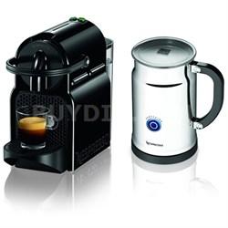 Inissia Espresso Maker with Aeroccino Plus Milk Frother Bundle (Black)