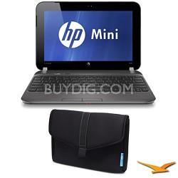 "Mini 10.1"" 210-4150NR Netbook PC Bundle with SlipCase Notebook Case"