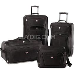 Fieldbrook II Four-Piece Luggage Set (Black) 56444-1041