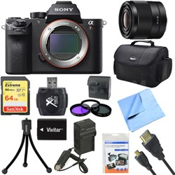 a7R II Full-frame Mirrorless Interchangeable 42.4MP Camera Body 28mm Lens Bundle