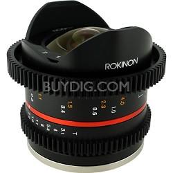 8mm T3.1 Cine Fisheye Lens for Samsung NX Mount