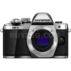 OM-D E-M10 Mark II Mirrorless Micro Four Thirds Digital Camera Body (Silver)