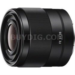 SEL28F20 - FE 28mm F2 E-mount Full Frame Prime Lens - OPEN BOX