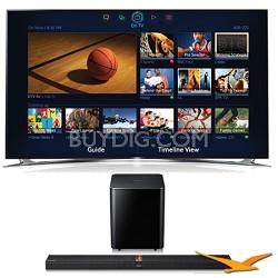 UN60F8000 60 inch 1080p 240hz 3D Smart Wifi TV + HW-F750 Soundbar Bundle
