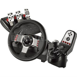 G27 16 Button Racing Wheel, Pedals and Gear Shift Lever Set PC Game - OPEN BOX