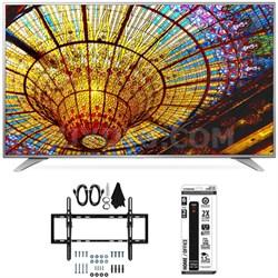 60UH6550 60-Inch 4K UHD Smart TV w/ webOS 3.0 Flat + Tilt Wall Mount Bundle