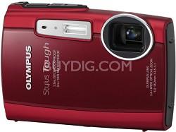 Stylus Tough 3000 Waterproof Shockproof Freezeproof Digital Camera (Red)