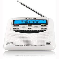 WR-120B NOAA Emergency Weather Alert Certified Radio with Alarm Clock (White)