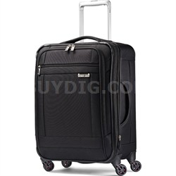 """SoLyte 20"""" Expandable Spinner Carry On Suitcase Luggage - Black"""