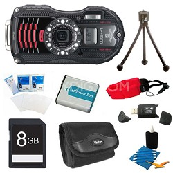 WG-4 GPS 16MP HD 1080p Waterproof Digital Camera Black 8GB Kit
