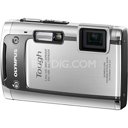 Tough TG-610 14MP Waterproof Shockproof Freezeproof Digital Camera - Silver