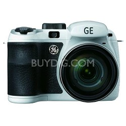 GE Power Pro X550-WH 16 MP w 15 x Optical Zoom Digital Camera, White - OPEN BOX