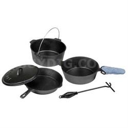 Cast Iron 6-Piece Cookware Set - 16903