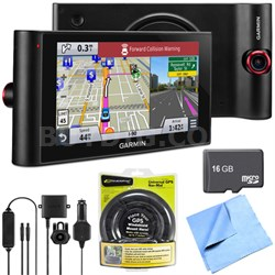 """nuviCam LMTHD 6"""" GPS w/ Built-in Dashcam, Maps, HD Traffic Friction Mount Bundle"""