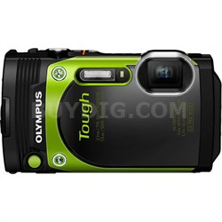 """TG-870 Tough Waterproof 16MP Green Digital Camera with AF Lock and 3"""" LCD"""