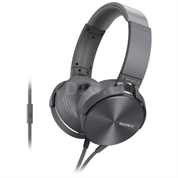 MDR-XB950AP Full-Size Headphones with Extra Bass - Silver - OPEN BOX