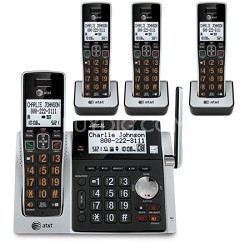 CL83463 4 Handset Answering System with Dual Caller ID/Call Waiting
