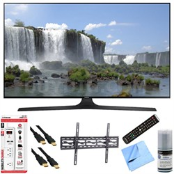 "UN55J6300A - 55"" HD 1080p 120hz Slim Smart LED HDTV Tilt Mount & Hook-Up Bundle"