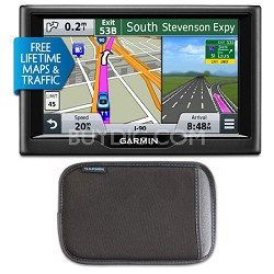 "nuvi 57LMT 5"" Essential Series 2015 GPS with Lifetime Maps & Traffic, Bundle"